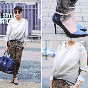 Zara Studded Ombré Sweater